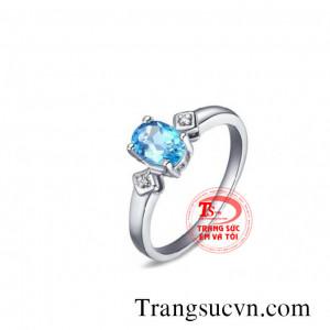Nhẫn đá topaz đẹp nữ