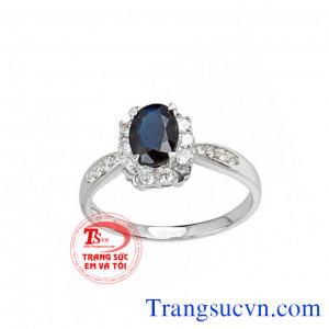 Nhẫn nữ vàng 14k saphir