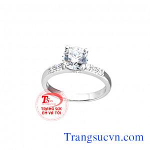 Nhẫn nữ kim cương thiên nhiên đẹp