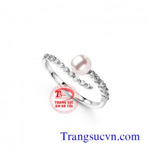 Nhẫn nữ ngọc trai đẹp