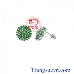 Emerald kết hoa tai đẹp