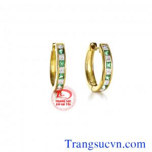 Cặp khuyên tai emerald rẻ