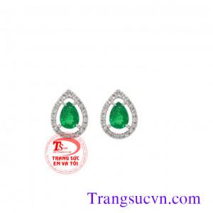 Cặp đôi hoa tai Emerald