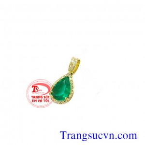 Mặt Emerald vàng 18k