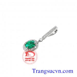 Mặt dây đá tự nhiên Emerald