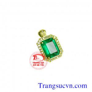 Mặt chữ nhật Emerald nữ