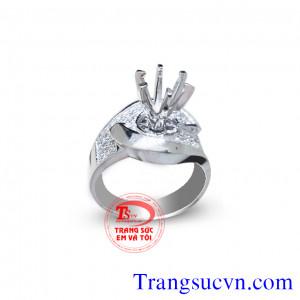 Vỏ nhẫn kim cương vàng trắng