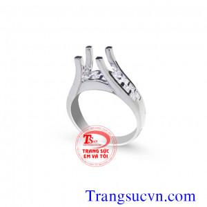 Vỏ nhẫn nữ vàng trắng