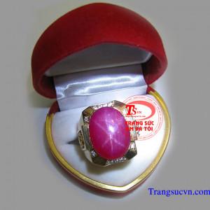 Nhẫn ruby sao đẹp