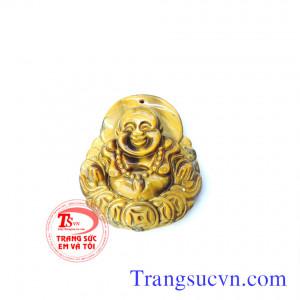 Phật đá mã não vàng nâu