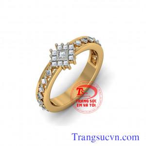 Nhẫn nữ kim cương đẹp