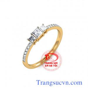Nhẫn vàng kim cương đẹp