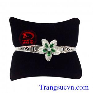 Vòng tay kim cương và emerald đẹp