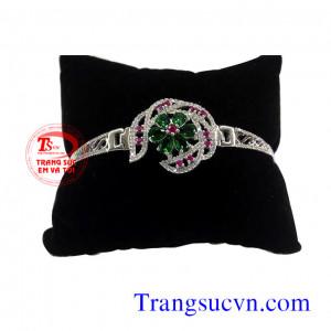 Vòng tay Emerald và ruby đẹp