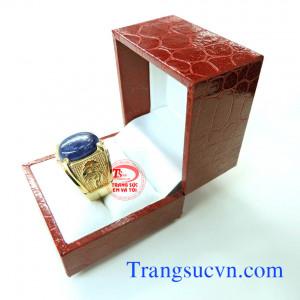 Nhẫn nam saphir vàng tây đẹp