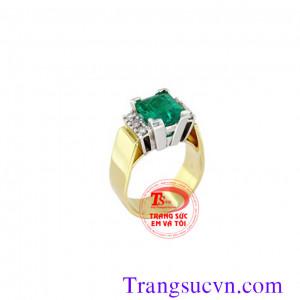 Nhẫn nữ vàng tây emerald