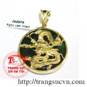 Đồng xu ngọc dát vàng 999