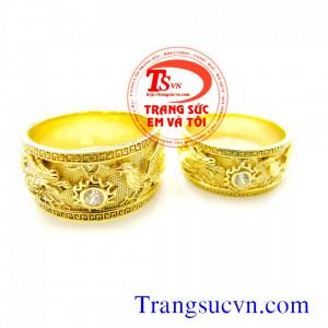 Nhẫn cưới Long Phụng vàng 18K