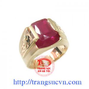 Nhẫn Ruby Chữ Nhật