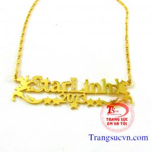 Dây chuyền chữ vàng tây 18k
