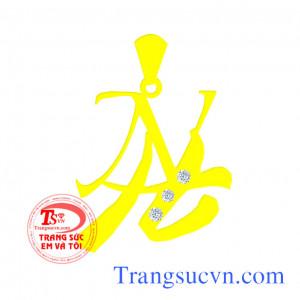 Mặt dây chữ vàng màu