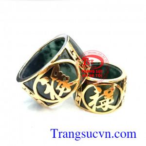 Nhẫn đôi ngọc vàng 18k