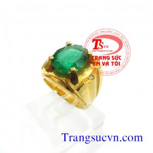 Nhẫn nam emerald vàng ta