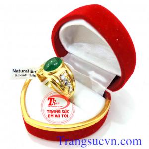 Nhẫn vàng nam emerald