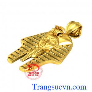 Mặt dây Paraon-Vàng 18k 75%Au thiết kế và chế tác mặt dây chuyền trên máy 3D với mặt có thần,Paraon là vu Aicap xây kim tự tháp bằng đá với sức Nô Lệ