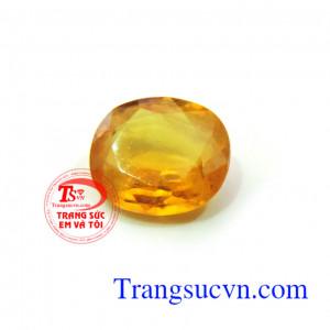 Đá Sapphire vàng 4.25ct