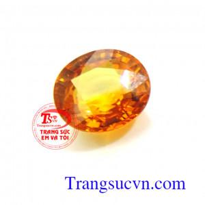 Đá quý sapphire vàng 4.15 Ct
