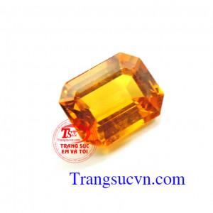 Sapphire vàng chữ nhật 3,65Ct