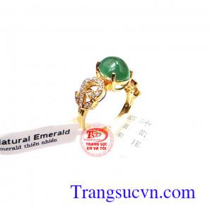 Nhẫn nữ vàng Emerald ngọc lục bảo