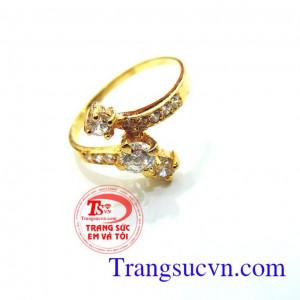 Nhẫn nữ vàng tây kiểu