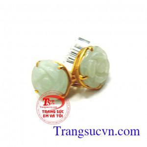 Hoa tai ngọc jadeite