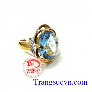Nhẫn vàng nữ Topaz