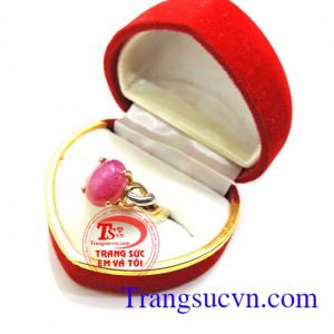 Nhẫn nữ ruby hộ mệnh