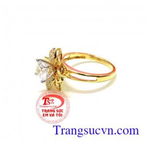 Nhẫn nữ vàng 18k đẹp