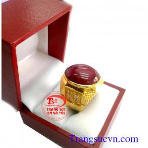 Nhẫn vàng đá quý Ruby
