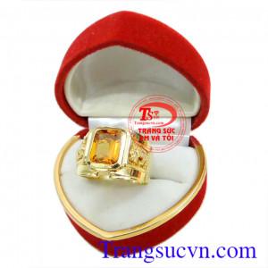Nhẫn nam sapphire vàng
