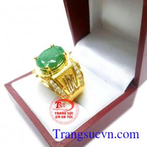 Nhẫn Emerald tài lộc may mắn