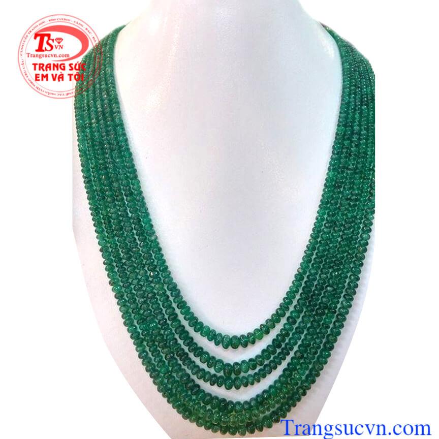 Chuỗi Emerald thiên nhiên 100%