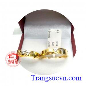Nhẫn cưới vàng tây tình yêu