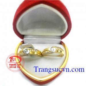 Đôi nhẫn cưới vàng rẻ đẹp