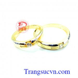 Nhẫn cưới giá rẻ đính đá
