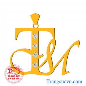Mặt dây chữ lồng TM
