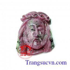 Mặt chúa Giê su đá ruby