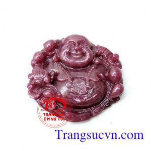 Phật di lặc đá ruby đẹp