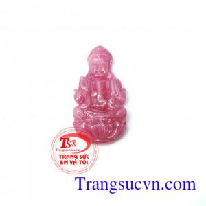 Phật quan âm hồng ngọc