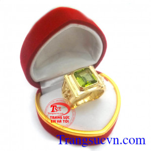 Nhẫn nam đá quý phong thủy